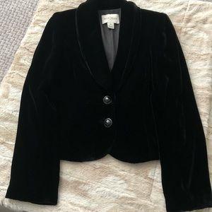 White House Black Market Black Velvet Blazer
